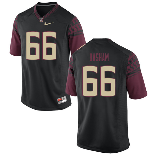 Men #66 Andrew Basham Florida State Seminoles College Football Jerseys Sale-Black