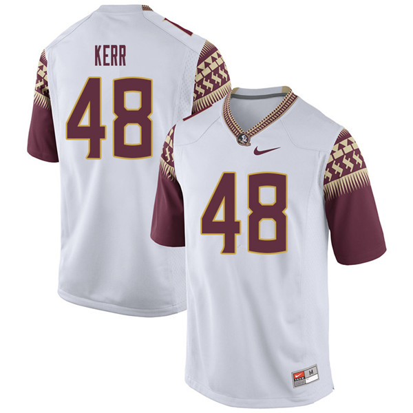 Men #48 Armani Kerr Florida State Seminoles College Football Jerseys Sale-White