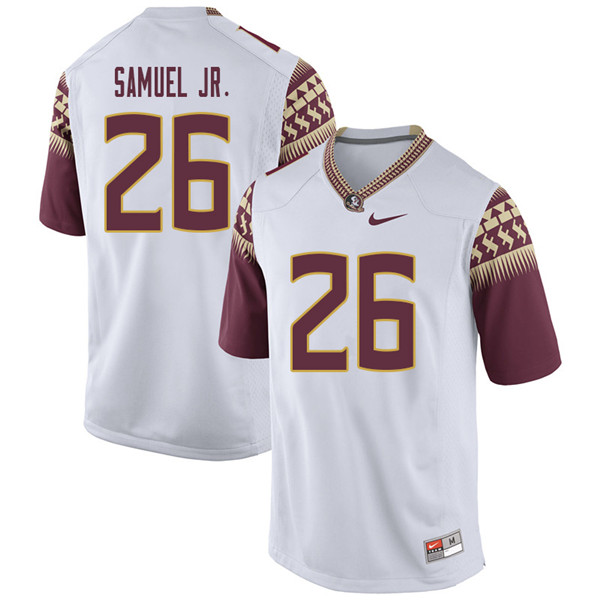 Men #26 Asante Samuel Jr. Florida State Seminoles College Football Jerseys Sale-White