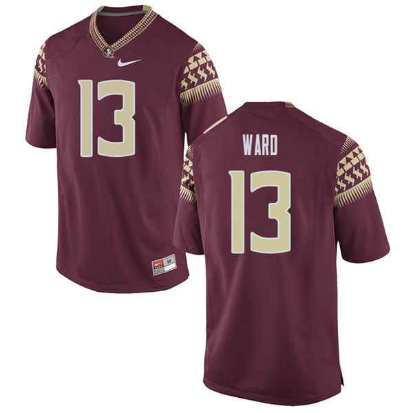 Men #13 Caleb Ward Florida State Seminoles College Football Jerseys Sale-Garent