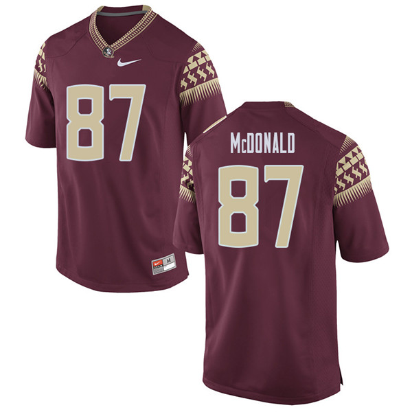 Men #87 Camm Mcdonald Florida State Seminoles College Football Jerseys Sale-Garent