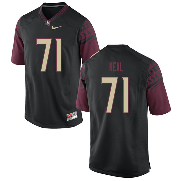 Men #71 Chaz Neal Florida State Seminoles College Football Jerseys Sale-Black