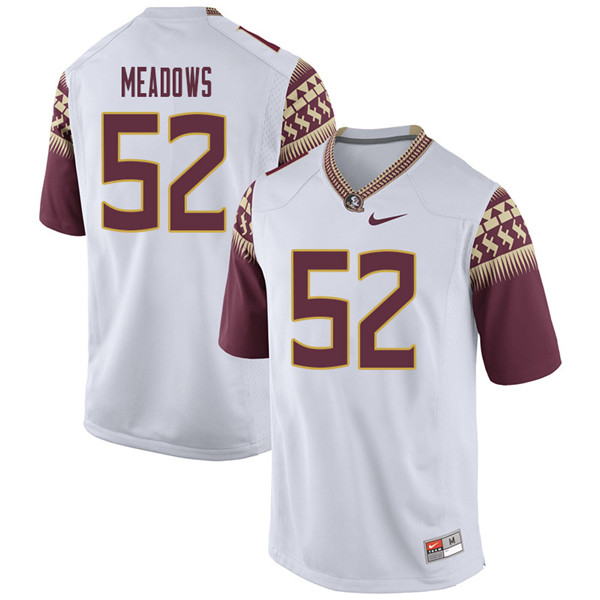 Men #52 Christian Meadows Florida State Seminoles College Football Jerseys Sale-White