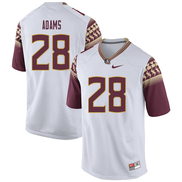 Men #28 D'Marcus Adams Florida State Seminoles College Football Jerseys Sale-White