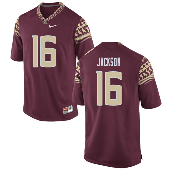 Men #16 Dontavious Jackson Florida State Seminoles College Football Jerseys Sale-Garent