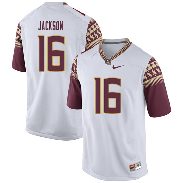 Men #16 Dontavious Jackson Florida State Seminoles College Football Jerseys Sale-White