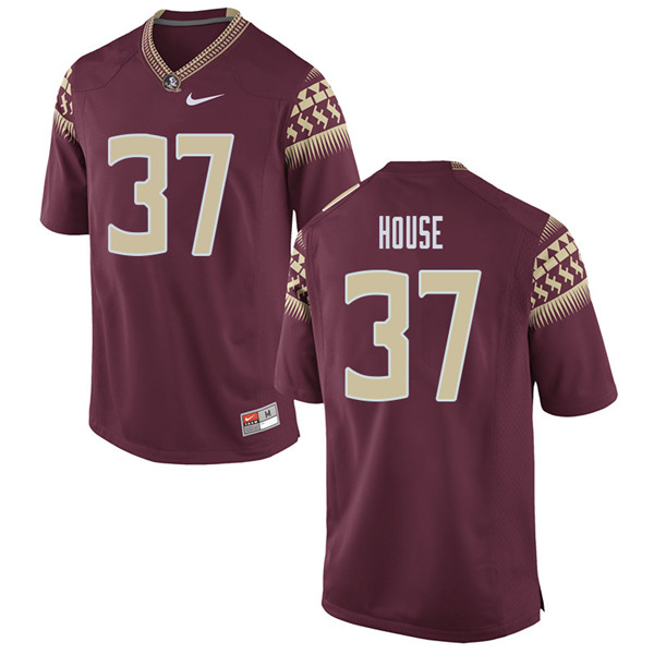 Men #37 Kameron House Florida State Seminoles College Football Jerseys Sale-Garent