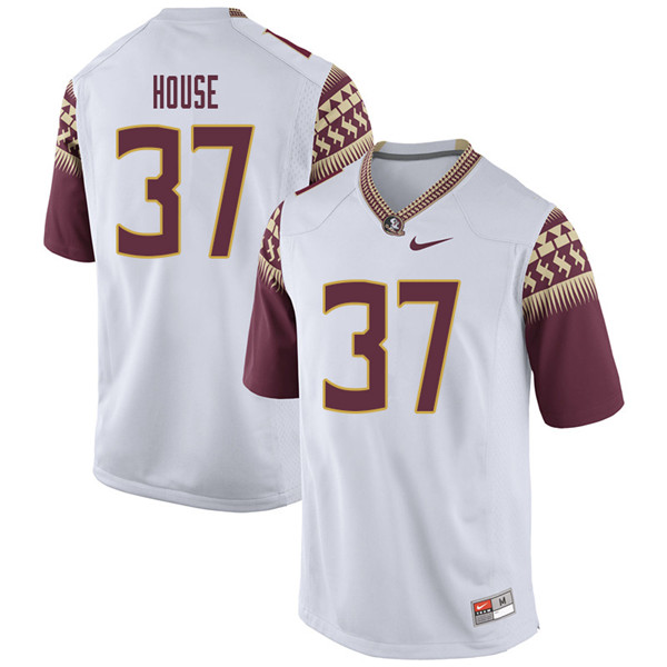 Men #37 Kameron House Florida State Seminoles College Football Jerseys Sale-White