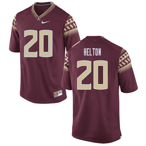 Men #20 Keyshawn Helton Florida State Seminoles College Football Jerseys Sale-Garent