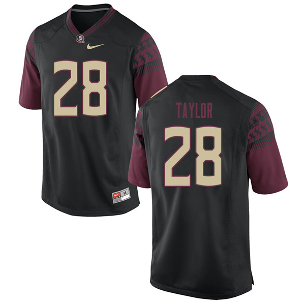 Men #28 Levonta Taylor Florida State Seminoles College Football Jerseys Sale-Black