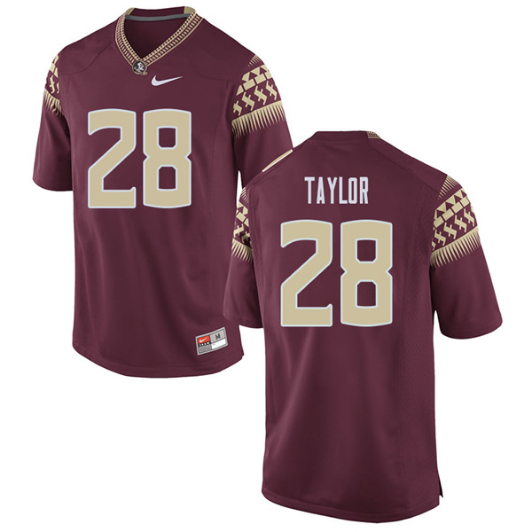 Men #28 Levonta Taylor Florida State Seminoles College Football Jerseys Sale-Garent