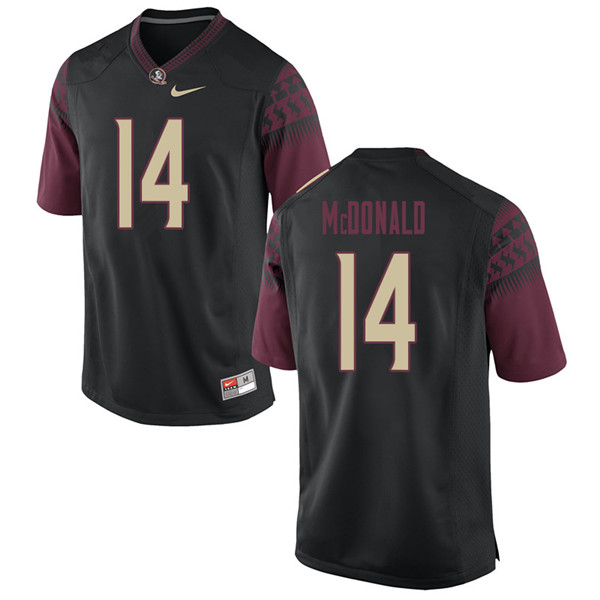 Men #14 Nolan Mcdonald Florida State Seminoles College Football Jerseys Sale-Black