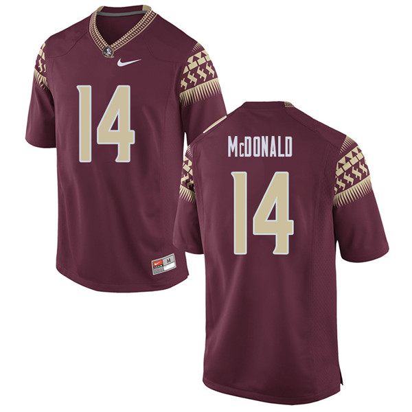 Men #14 Nolan Mcdonald Florida State Seminoles College Football Jerseys Sale-Garent