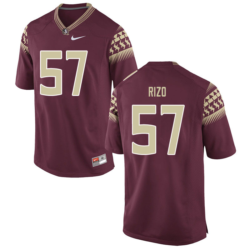 Men #57 Axel Rizo Florida State Seminoles College Football Jerseys Sale-Garent