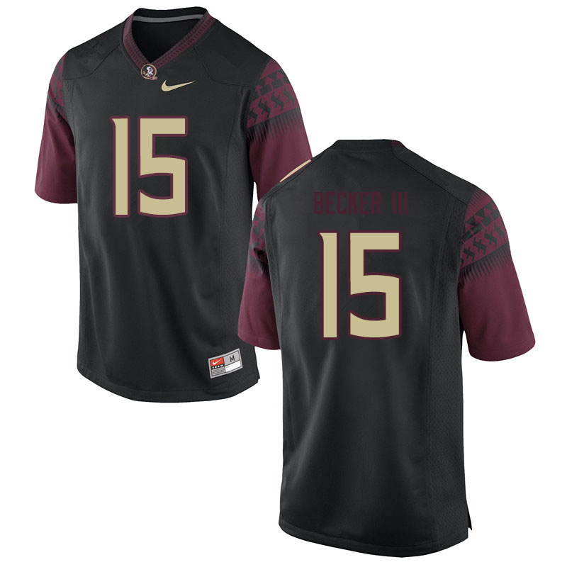 Men #15 Carlos Becker III Florida State Seminoles College Football Jerseys Sale-Black