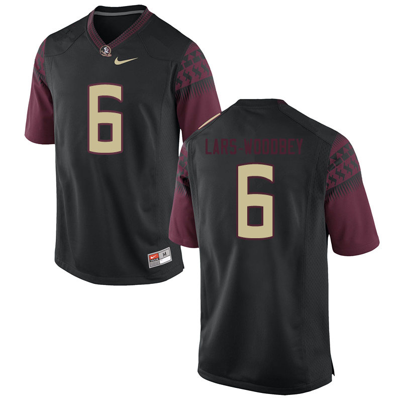 Men #6 Jaiden Lars-Woodbey Florida State Seminoles College Football Jerseys Sale-Black