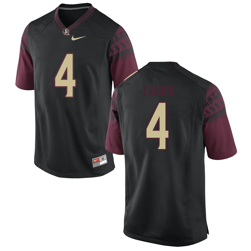 Men #4 Khalan Laborn Florida State Seminoles College Football Jerseys Sale-Black