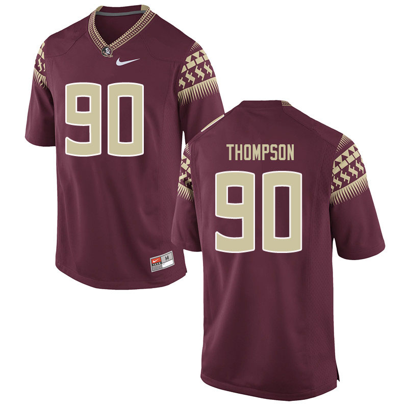 Men #90 Tru Thompson Florida State Seminoles College Football Jerseys Sale-Garent