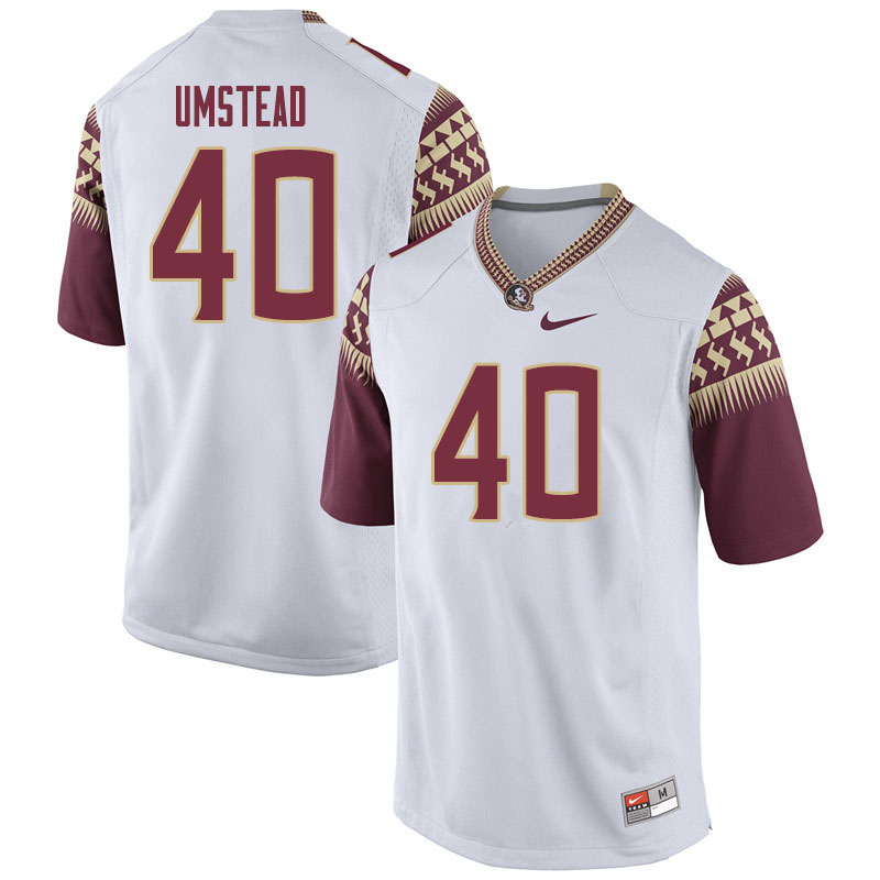 Men #40 Ethan Umstead Florida State Seminoles College Football Jerseys Sale-White