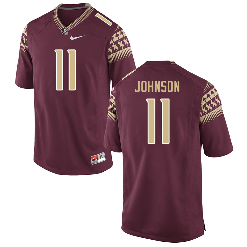 Men #11 Jermaine Johnson Florida State Seminoles College Football Jerseys Sale-Garnet