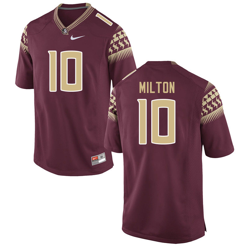 Men #10 McKenzie Milton Florida State Seminoles College Football Jerseys Sale-Garnet