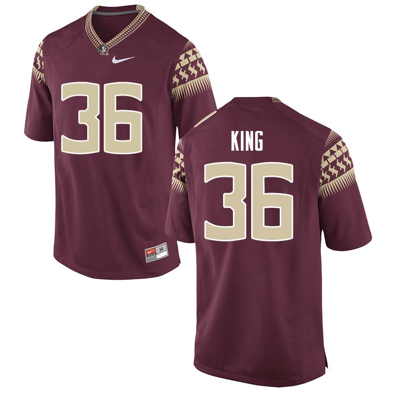 Men #36 Aaron King Florida State Seminoles College Football Jerseys Sale-Garnet