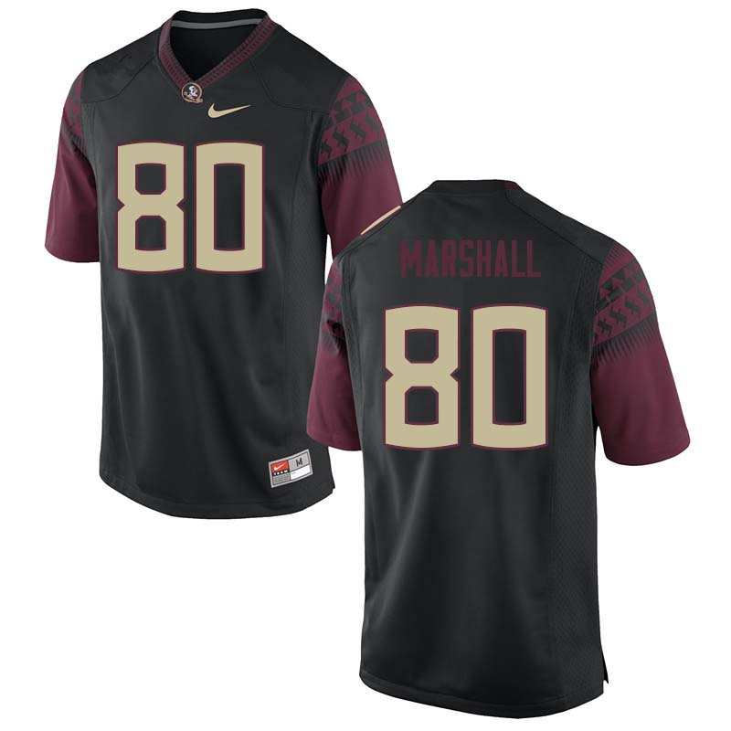 Men #80 Alex Marshall Florida State Seminoles College Football Jerseys Sale-Black
