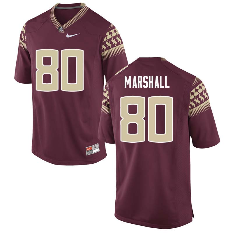 Men #80 Alex Marshall Florida State Seminoles College Football Jerseys Sale-Garnet