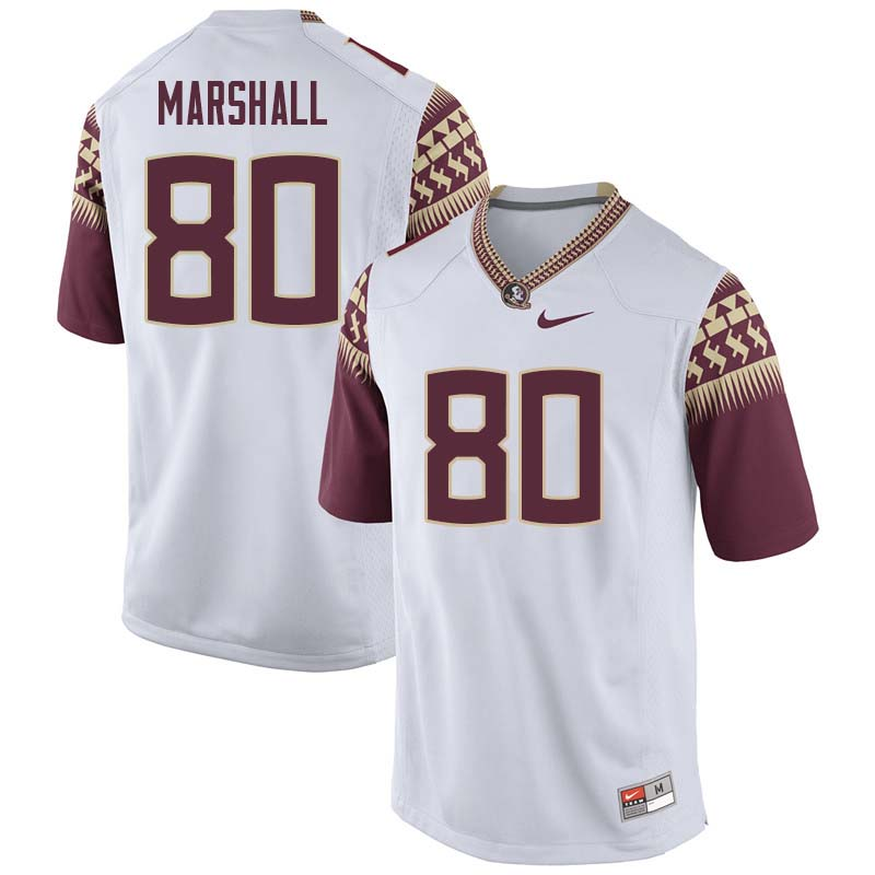 Men #80 Alex Marshall Florida State Seminoles College Football Jerseys Sale-White