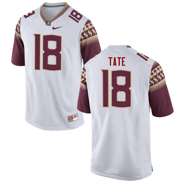 Men #18 Auden Tate Florida State Seminoles College Football Jerseys-White