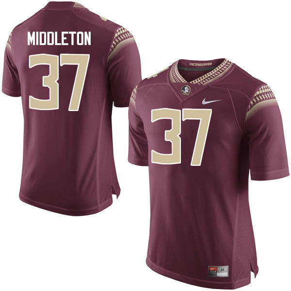 Men #37 Blaik Middleton Florida State Seminoles College Football Jerseys-Garnet