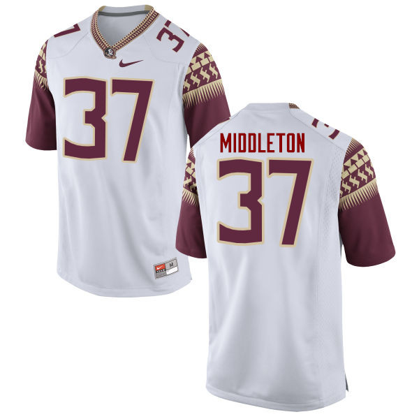 Men #37 Blaik Middleton Florida State Seminoles College Football Jerseys-White