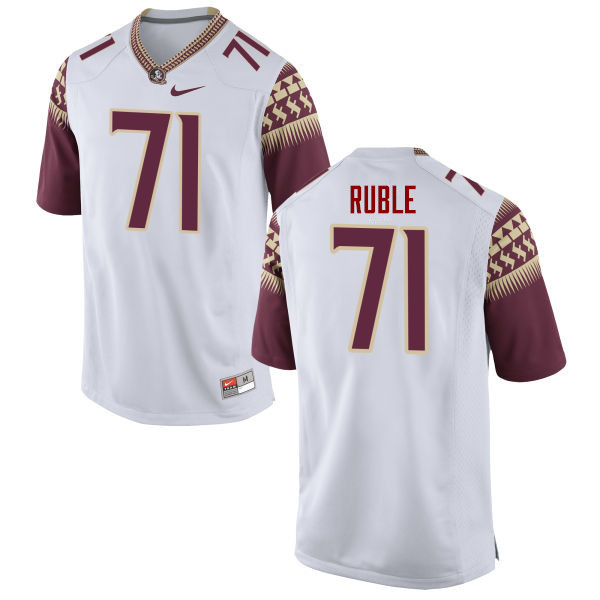 Men #71 Brock Ruble Florida State Seminoles College Football Jerseys-White