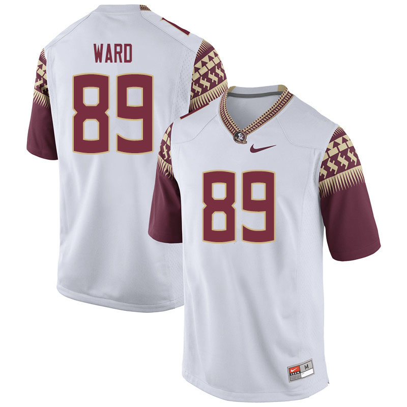 Men #89 Caleb Ward Florida State Seminoles College Football Jerseys Sale-White