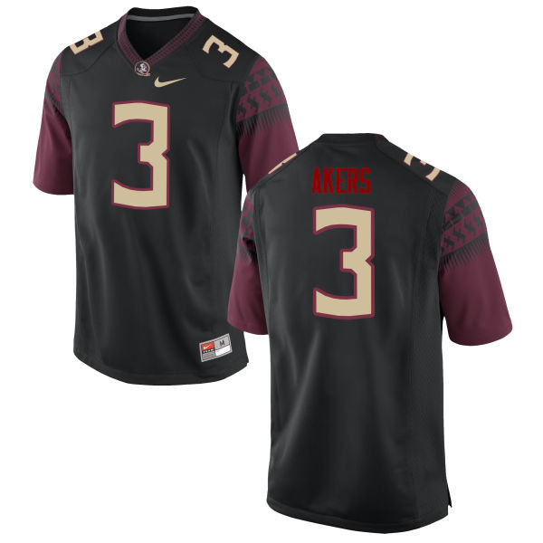 Men #3 Cam Akers Florida State Seminoles College Football Jerseys-Black