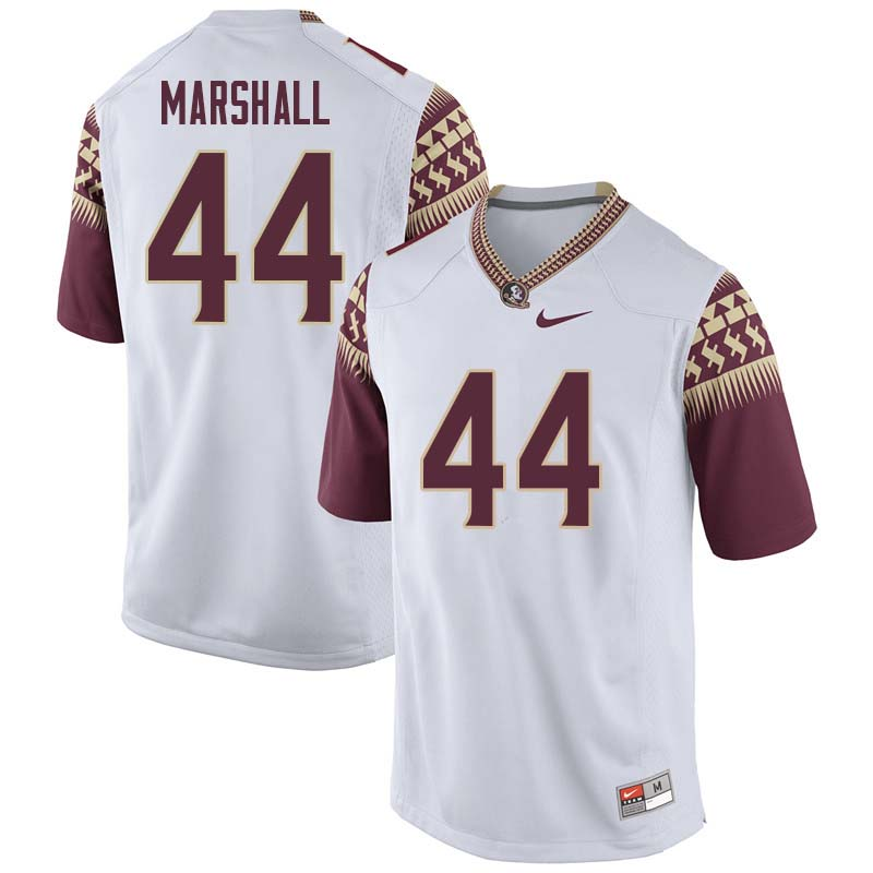 Men #44 Chandler Marshall Florida State Seminoles College Football Jerseys Sale-White