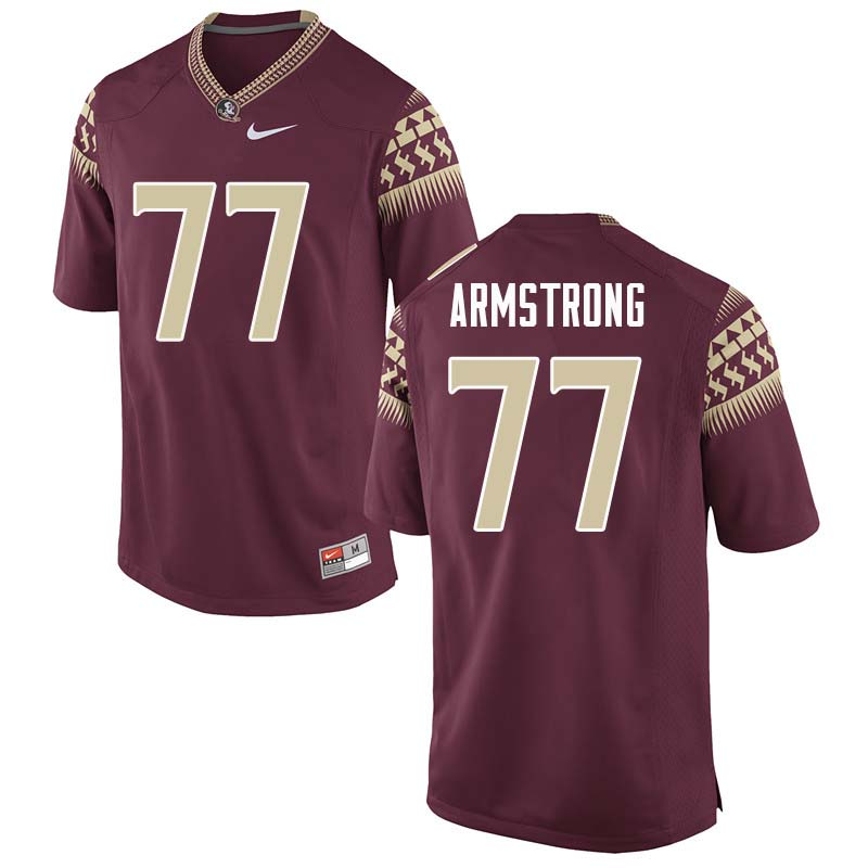 Men #77 Christian Armstrong Florida State Seminoles College Football Jerseys Sale-Garnet