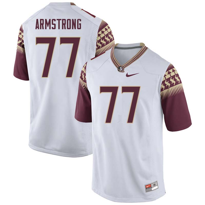 Men #77 Christian Armstrong Florida State Seminoles College Football Jerseys Sale-White