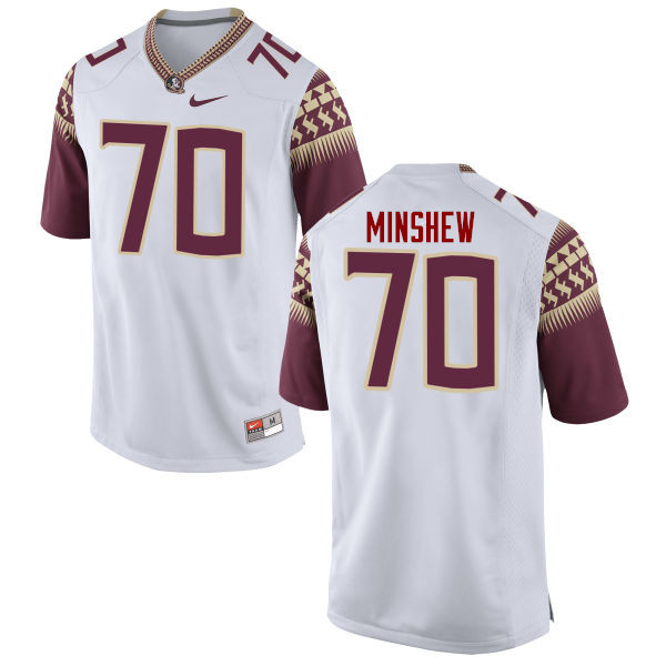Men #70 Cole Minshew Florida State Seminoles College Football Jerseys-White