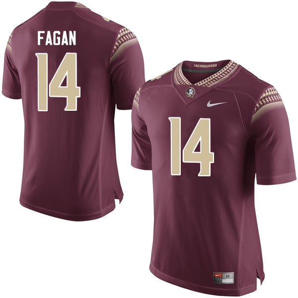 Men #14 Cyrus Fagan Florida State Seminoles College Football Jerseys-Garnet