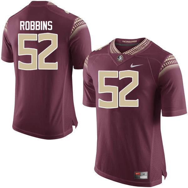 Men #52 David Robbins Florida State Seminoles College Football Jerseys-Garnet