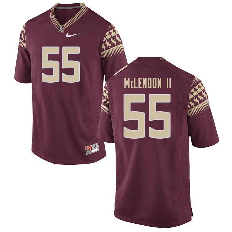 Men #55 Derrick Mclendon II Florida State Seminoles College Football Jerseys Sale-Garnet