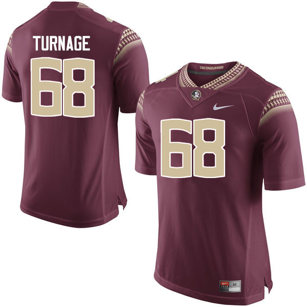 Men #68 Greg Turnage Florida State Seminoles College Football Jerseys-Garnet