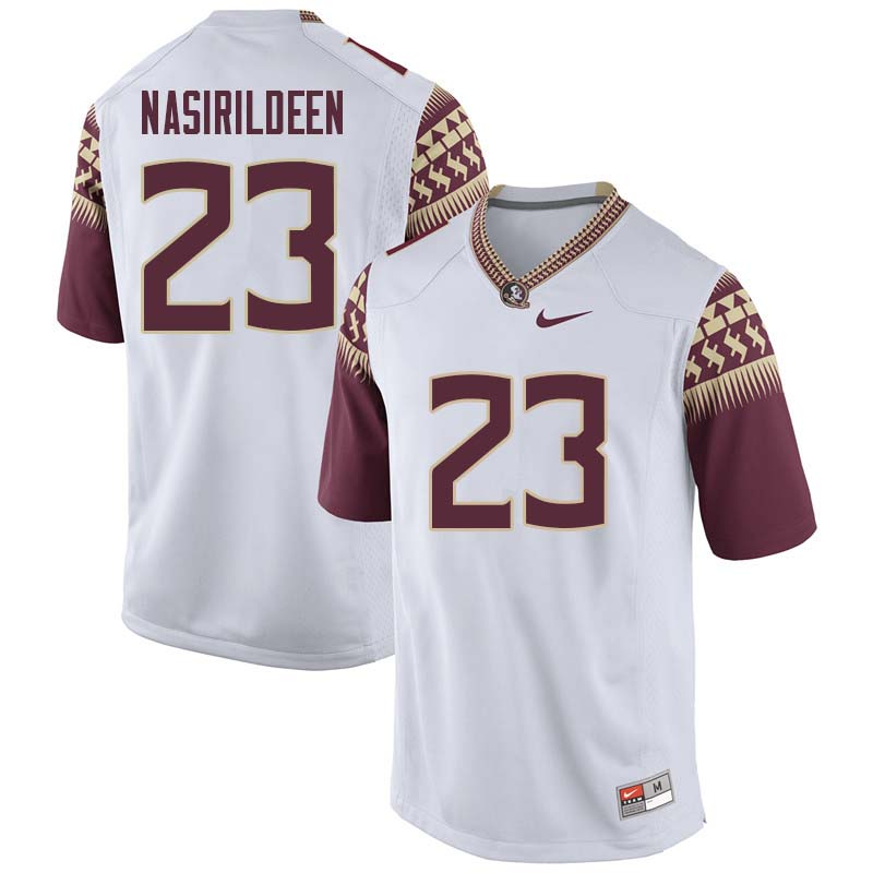 Men #23 Hamsah Nasirildeen Florida State Seminoles College Football Jerseys Sale-White