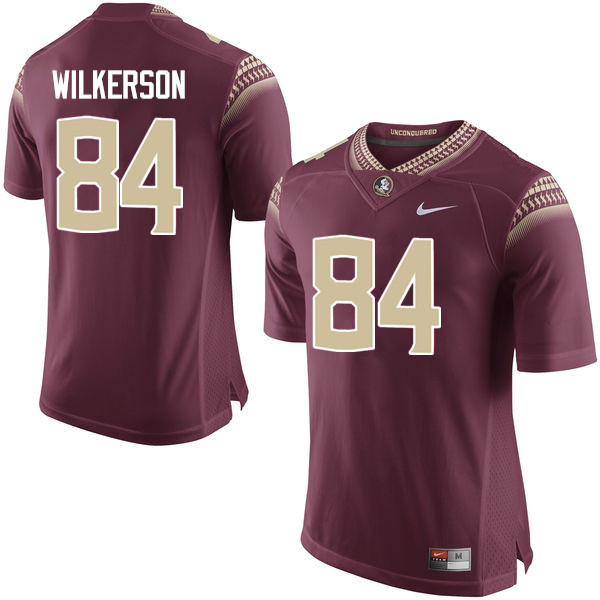 Men #84 Jalen Wilkerson Florida State Seminoles College Football Jerseys-Garnet