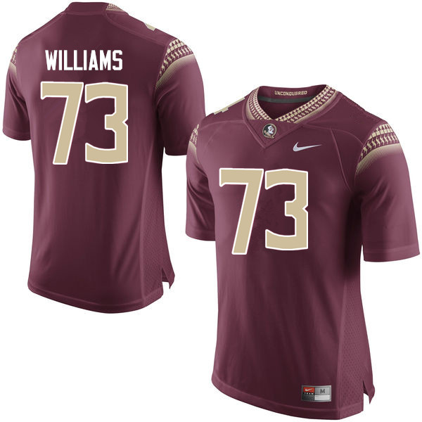 Men #73 Jauan Williams Florida State Seminoles College Football Jerseys-Garnet