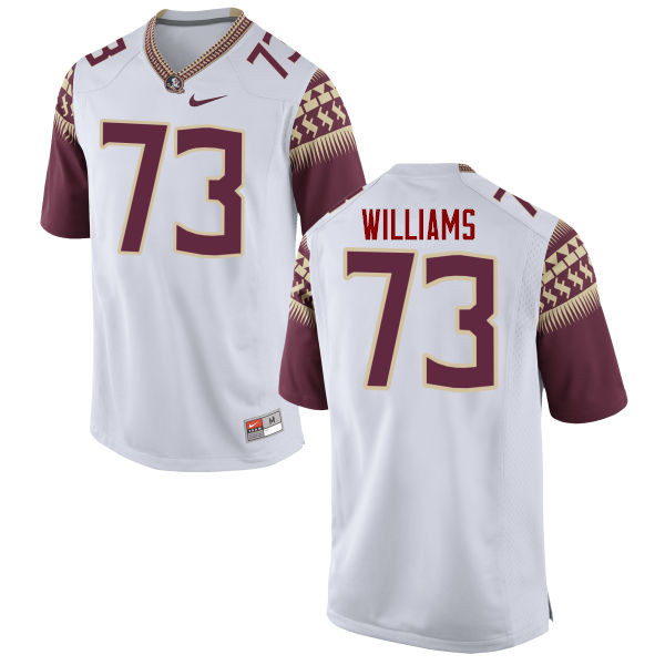 Men #73 Jauan Williams Florida State Seminoles College Football Jerseys-White