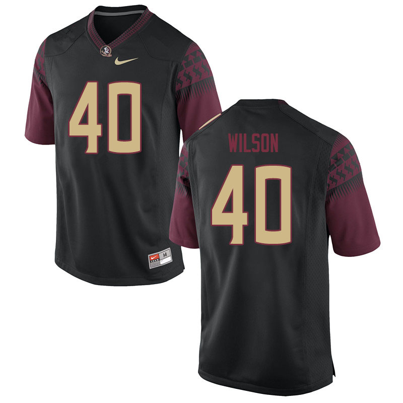 Men #40 Jordan Wilson Florida State Seminoles College Football Jerseys Sale-Black