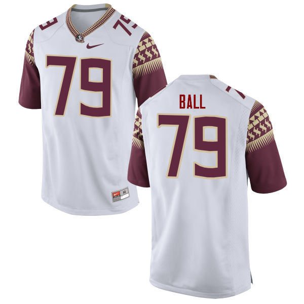 Men #79 Josh Ball Florida State Seminoles College Football Jerseys-White