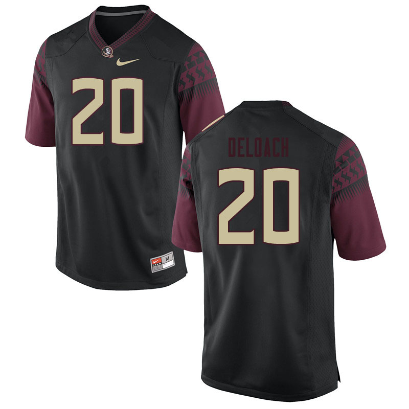 Men #20 Kalen Deloach Florida State Seminoles College Football Jerseys Sale-Black